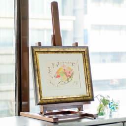 円相(エンソウ) 作品展示イメージ(商品は別商品の「花籠」商品番号:NV06-91です)。
