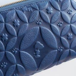 SNOOPY(スヌーピー)/しあわせのジャパンブルー 阿波藍長財布|PEANUTS 伝統の阿波藍にしあわせ繋がる七宝分文