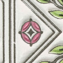 SNOOPY(スヌーピー)/浅草文庫 牛革製スマホケース|PEANUTS 七宝…富貴・円満・調和を表す伝統柄。