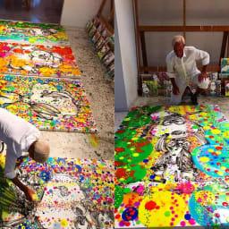 SNOOPY(スヌーピー)/トム・エバハート アンディ(DOGG POUND GANGSTA)アート|PEANUTS バブルバスシリーズを制作するトムエバハート氏