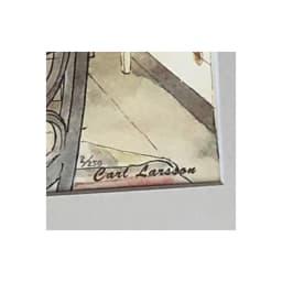 カール・ラーション/白樺の木陰での朝食(スウェーデンアート) エディションナンバー入り(番号は選べません)<br />※画像はNV3295より<br />※CARL LARSSONの文字はプリント