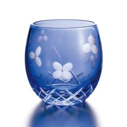 SNOOPY(スヌーピー)/江戸切子グラス 2色セット PEANUTS いきいき瑠璃色…背面