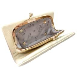 SNOOPY(スヌーピー)/スモーキーパステル がま口二つ折り財布 (ア)アイボリー