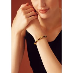 幸せの絆 天然宝石とダイヤモンドの宝飾ブレスレット