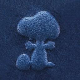 【WEB】SNOOPY(スヌーピー)/しあわせのジャパンブルー 阿波藍長財布|PEANUTS 立体型押しで、表情豊かなスヌーピーが飛びだしてくるみたい!