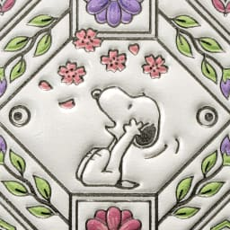 【WEB】SNOOPY(スヌーピー)/浅草文庫 牛革製スマホケース|PEANUTS 桜