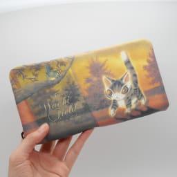 わちふぃーるど/光の猫長財布