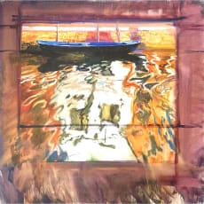リャド ミニ版画 ブラーノの小舟