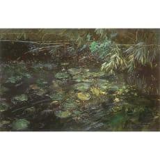 リャド ミニ版画 緑の水辺