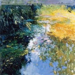 リャド ミニ版画 黄金の池