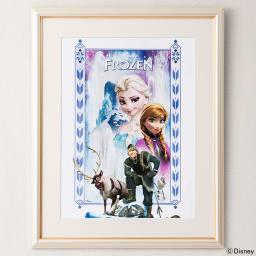 アナと雪の女王 プレミアムアートフレーム(マット付き)縦80×横64.5cm 作品名「An Enchanted Winter」 Title(作品名):An Enchanted Winter(アン・エンチャンテッド・ウインター)