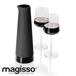 magisso(マギッソ)/ブラックカラーテラコッタ カラフェ ブラックカラーのテラコッタのモダンなワインカラフェ。(※ワイングラスは付属しません)