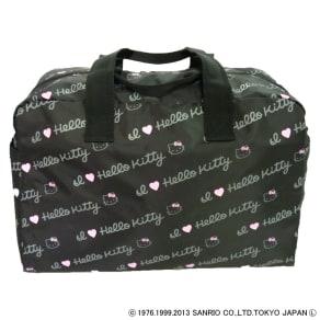 Hello Kitty(ハローキティ)/折りたたみボストンバッグ ロゴ(ポーチ付き・撥水加工) 写真