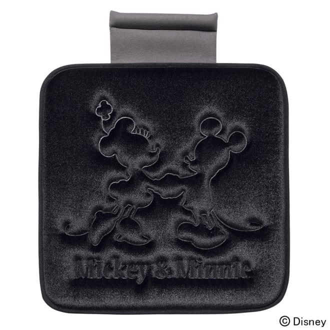 ミッキー&ミニー/プレス シートクッション 45×45cm|Disney(ディズニー) (ア)ブラック