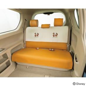 ミッキー&ミニー/ナチュラル 軽コンパクトカー リヤシートカバー|Disney(ディズニー) 写真