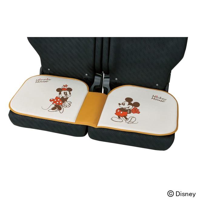ミッキー&ミニー/ナチュラル シートクッション 幅110cm|Disney(ディズニー)