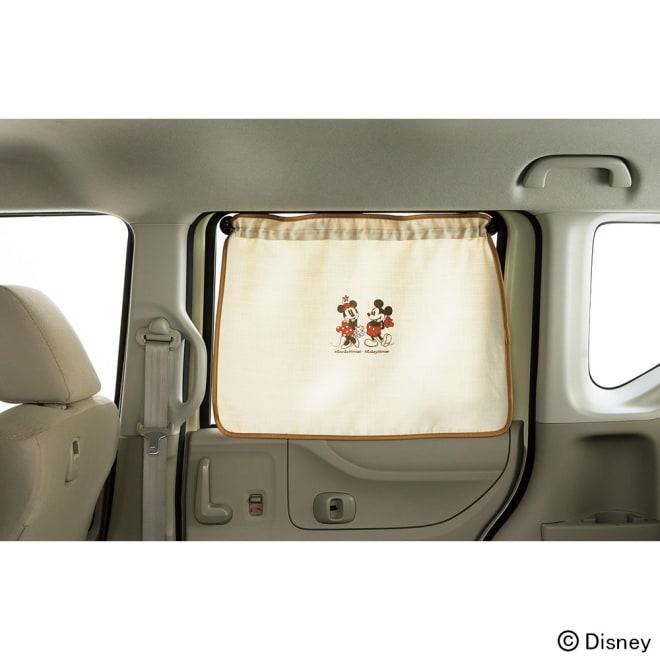 ミッキー&ミニー/ナチュラル カーテン1枚 65×60cm Disney(ディズニー)