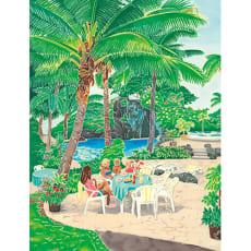 椰子の木の下で
