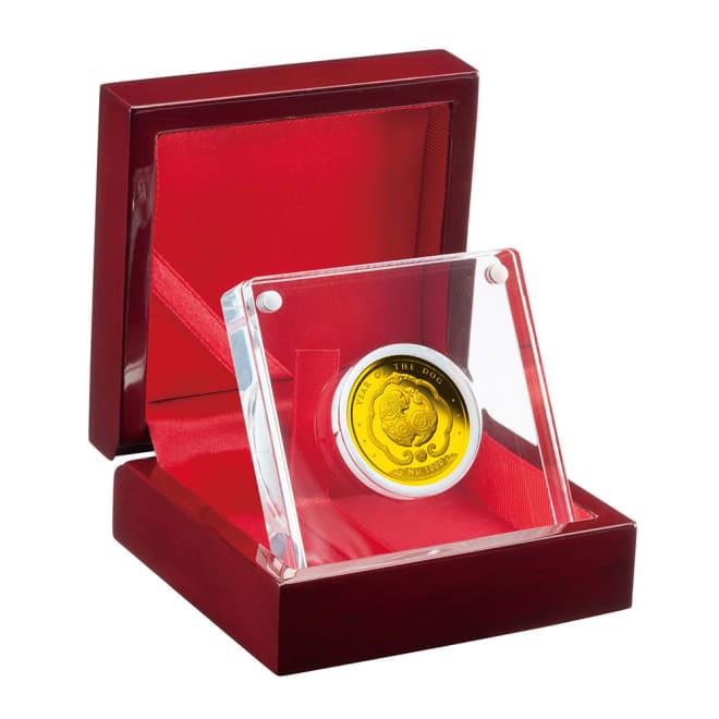 戌年犬図記念コイン 1000ニュルタムカラー金貨 特製ケース入り