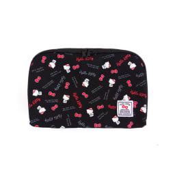 Hello Kitty(ハローキティ)/スタンダードロゴ柄 衣類ケース Sサイズ (ア)ブラック