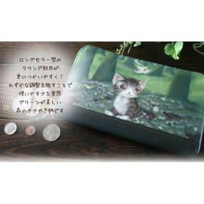わちふぃーるど/アートラウンド札入 No.2 森のささやき長財布 写真
