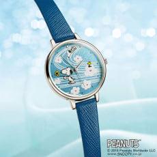 SNOOPY(スヌーピー)/革バンドしあわせの流水紋蒔絵時計|PEANUTS