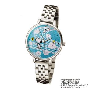 SNOOPY(スヌーピー)/メタルバンドしあわせの蒔絵腕時計|PEANUTS 写真