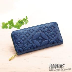 SNOOPY(スヌーピー)/しあわせのジャパンブルー 阿波藍長財布|PEANUTS 写真