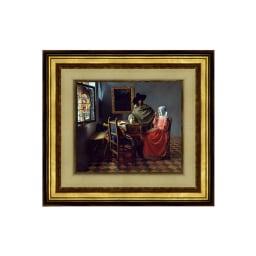 フェルメール/紳士とワインを飲む女(複製画)