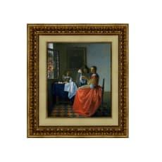 フェルメール/ワイングラスを持つ娘(複製画)