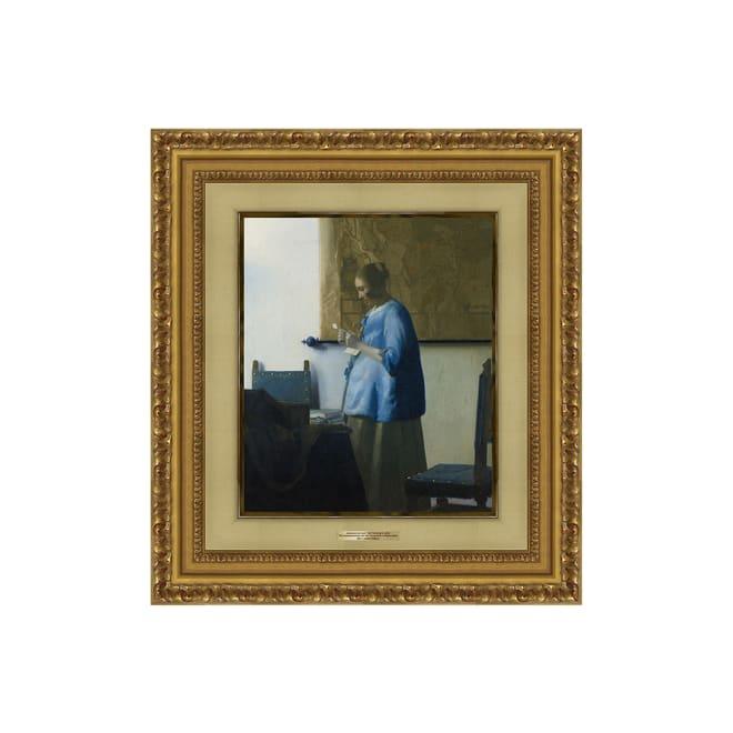 フェルメール/手紙を読む青衣の女(複製画)