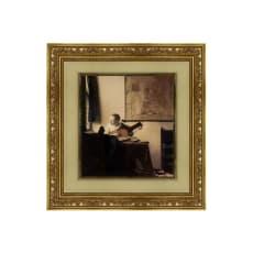 フェルメール/リュートを調弦する女(複製画)
