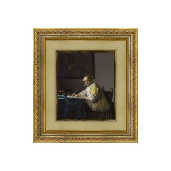 フェルメール/手紙を書く女(複製画)