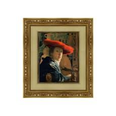 フェルメール/赤い帽子の女(複製画)