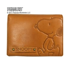 SNOOPY(スヌーピー)/スヌーピーウォーク LF二つ折れ牛革財布|PEANUTS 写真