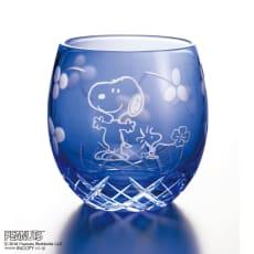 SNOOPY(スヌーピー)/江戸切子グラス いきいき瑠璃色|PEANUTS