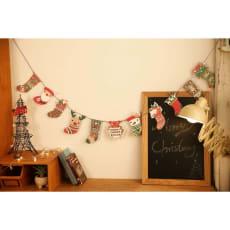 クリスマスガーランド (柄ゴールドオーナメント)