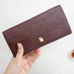 わちふぃーるど/エンペラー長財布 茶・ダヤン 薄型でスリムな長財布です
