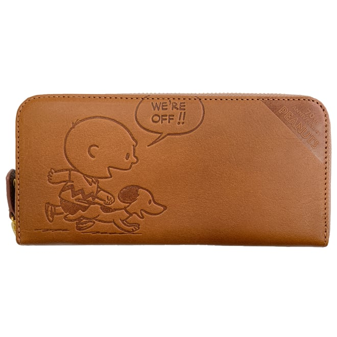 SNOOPY(スヌーピー)/70周年記念 束入れ財布 front