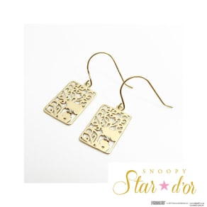 SNOOPY(スヌーピー)/Star★d'or K10 レースパターンピアス 写真
