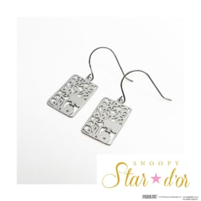 SNOOPY(スヌーピー)/Star★d'or K10WG レースパターンピアス 写真