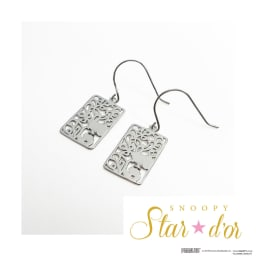 SNOOPY(スヌーピー)/Star★d'or K10WG レースパターンピアス