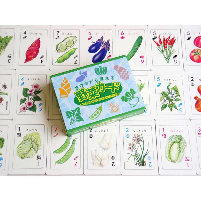 奥野かるた店/野菜カード 野菜の実は知っていても、どんな「花」を咲かせるか、知っていますか?