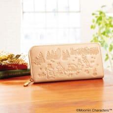 ムーミンと仲間たち しあわせの森高級ヌメ革長財布