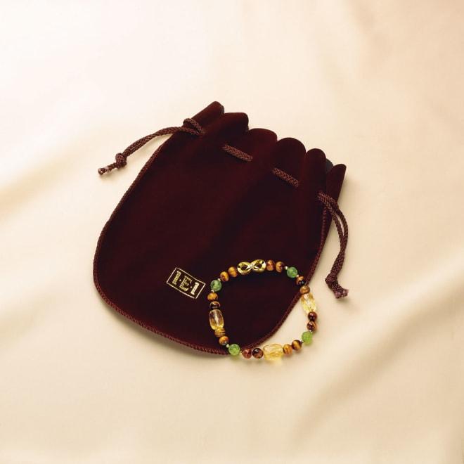 幸せの絆 天然宝石とダイヤモンドの宝飾ブレスレット 専用ポーチ付き