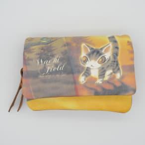 わちふぃーるど/光の猫三つ折り財布 写真