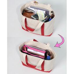 COGIT(コジット)/旅の便利が詰まった 12ポケットバッグインバッグ 12ポケットバッグインバッグ未使用→使用例