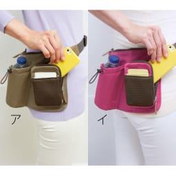 COGIT(コジット)/スリム軽量ウォークバッグ L字ポケット:携帯電話の出し入れが簡単!