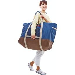 COGIT(コジット)/大型ランドリーでのまとめ洗いに!巾着袋付きドデカボストンバッグ 下のベルトと持ち手として使えます