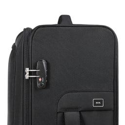 ace. ロックペイントSS ソフトキャリーバッグ 31L 2.3kg 施錠したまま預けることができるTSALOCK(R)を搭載。キーを必要としない3ケタのダイヤル式です。